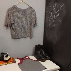 2 Gray Crop Tops from Urban Outfitters and Rue21